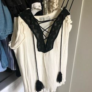White and black camisole